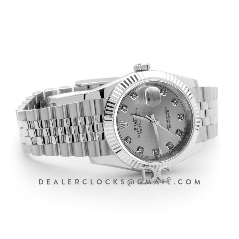 Datejust 36 116234 Silver Dial with Diamond Markers