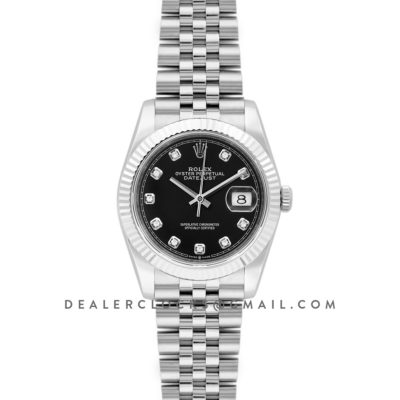 Datejust 36 116234 Black Dial with Diamond Markers