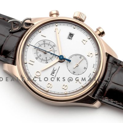 Portugieser Chronograph Classic IW3903 White Dial in Rose Gold