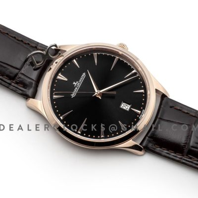 Master Ultra Thin Date Black Dial in Pink Gold Ref. 128255J