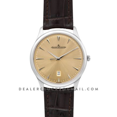 Master Ultra Thin Date Champagne Dial in Steel