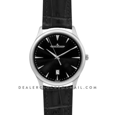 Master Ultra Thin Date Black Dial in Steel