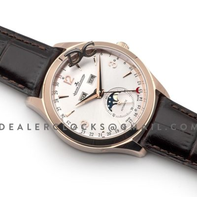 Master Calendar White Dial in Pink Gold