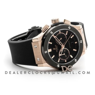 Classic Fusion Chronograph Black Dial in Rose Gold