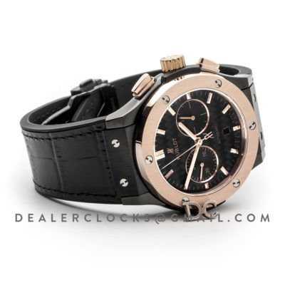 Classic Fusion Chronograph Black Dial with Rose Gold Bezel in PVD