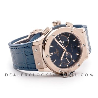 Classic Fusion Chronograph Blue Dial in Rose Gold