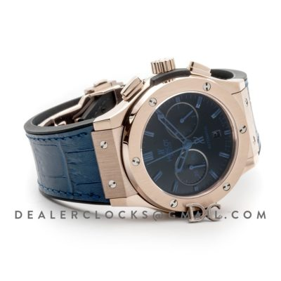 Classic Fusion Chronograph Blue Dial with Blue Marker in Rose Gold