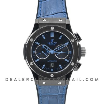 Classic Fusion Chronograph Blue Dial with Blue Marker in PVD