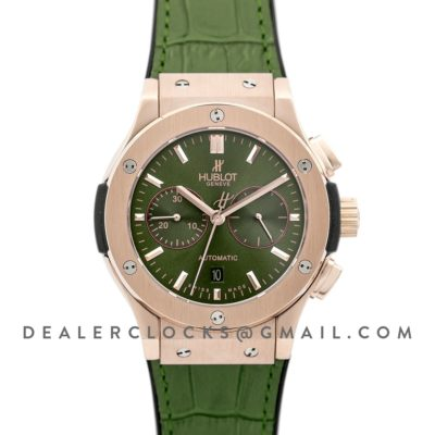 Classic Fusion Chronograph Green Dial in Rose Gold