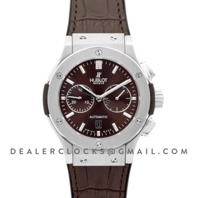 Classic Fusion Chronograph Brown Dial in Steel