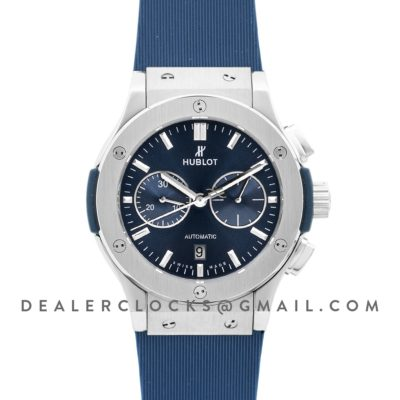 Classic Fusion Chronograph Blue Dial in Steel