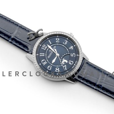 Rendez-Vous Night & Day Blue Dial in Steel on Blue Leather Strap