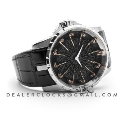 Excalibur Knights of the Round Table Black Dial Ref.RDDBEX0511