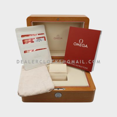 Omega Wooden Box and Papers